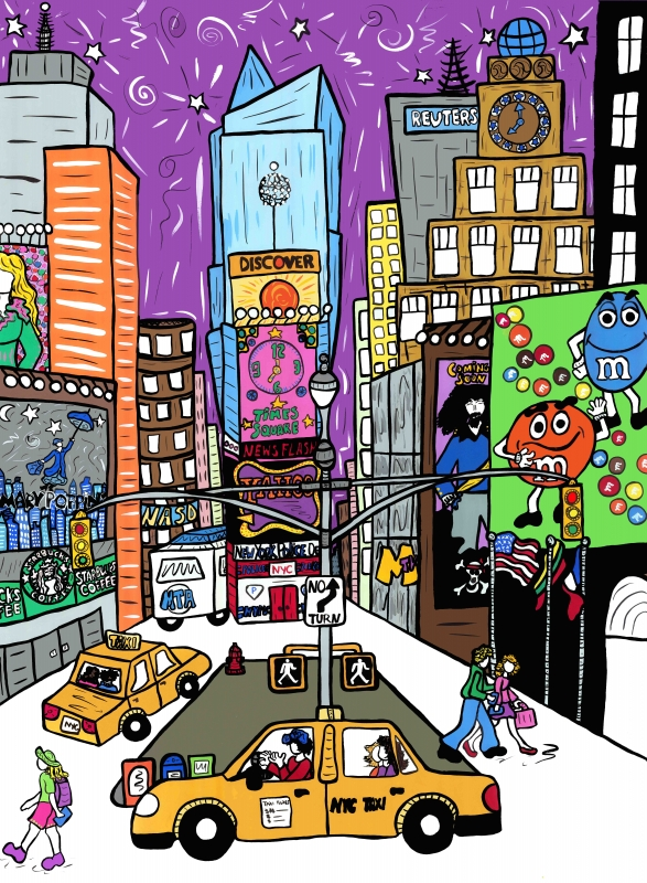 Times square clipart jpg library Times Square Wall Art | Laura Loving Happy jpg library