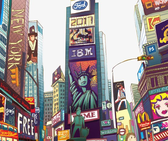 Times square clipart clipart free stock Times square clipart 7 » Clipart Portal clipart free stock