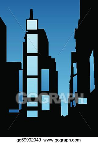 Times square clipart image black and white stock Vector Art - Times square skyline. EPS clipart gg69992043 ... image black and white stock