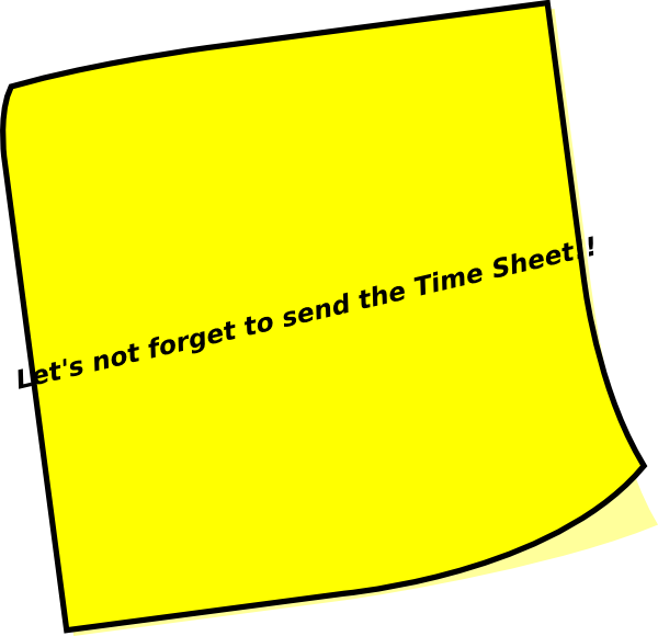 Timesheet reminder clipart picture royalty free download Timesheet Reminder Clip Art at Clker.com - vector clip art ... picture royalty free download