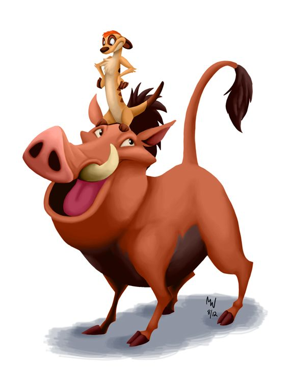 Timon and pumbaa clipart picture black and white download Timon & Pumba Clip Art | Disney | Timon, pumbaa, Disney ... picture black and white download