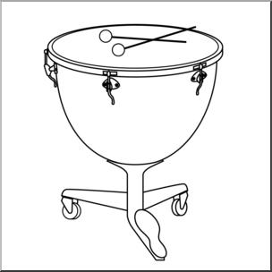 Timpanis clipart picture royalty free library Clip Art: Timpani B&W I abcteach.com | abcteach picture royalty free library