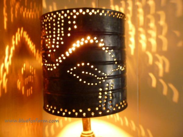 Tin light shade clipart freeuse Punched Tin Lamp Shades; from simplicity to gorgeous in minutes freeuse