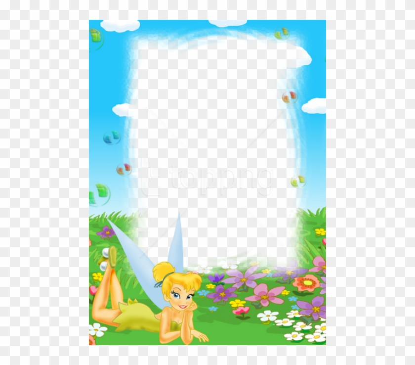 Tinkerbell clipart border png royalty free library Free Png Tinkerbell Kids Transparent Frame Background ... png royalty free library