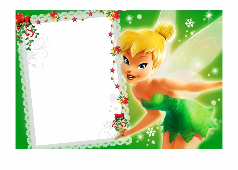 Tinkerbell clipart border free stock Frame , Think < - Tinkerbell Disney Free PNG Images ... free stock