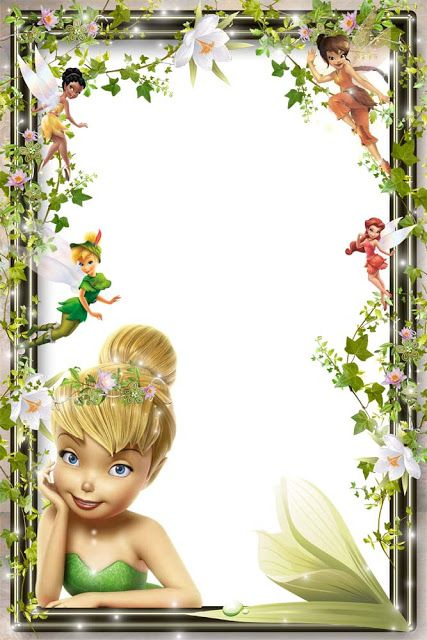 Tinkerbell clipart border picture transparent download Pin by Sandra Bester on Borders, Frames & Backgrounds ... picture transparent download