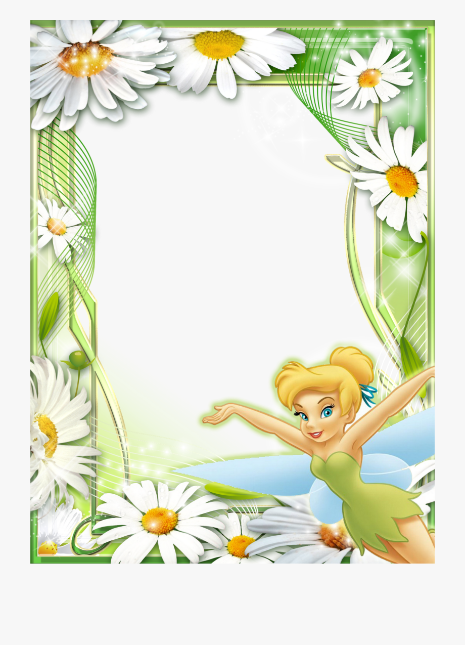 Tinkerbell clipart border jpg freeuse library Tinkerbell Daisies Kids Transparent - Tinkerbell Borders And ... jpg freeuse library