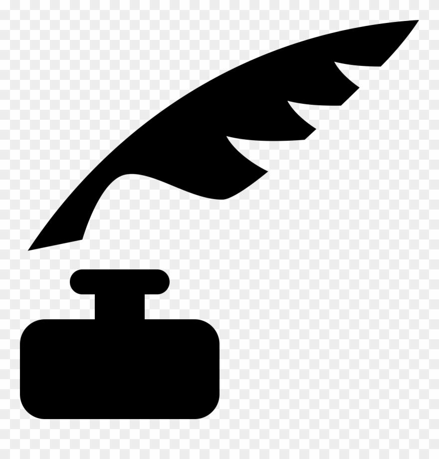 Tinta clipart svg transparent download Open - - Pluma Y Tinta Silueta Clipart (#775550) - PinClipart svg transparent download