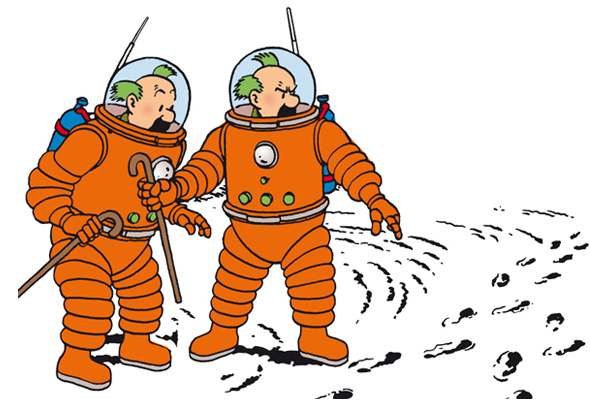 Tintin sur la lune clipart jpg Explorers on the Moon jpg