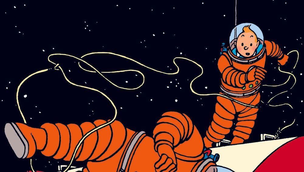 Tintin sur la lune clipart png stock Hergé : derrière les extraordinaires BD de Tintin sur la ... png stock