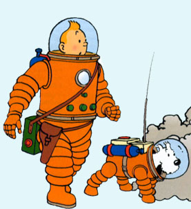 Tintin sur la lune clipart clip stock L\'Univers de Tintin clip stock
