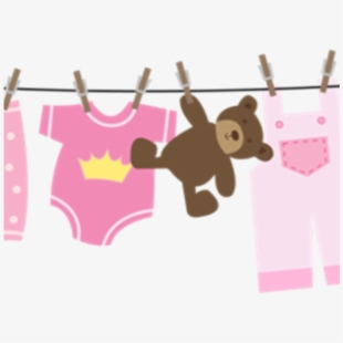 Tiny baby clothes on a clothesline clipart svg free stock Baby Clipart Clothesline - Baby Shower - Download Clipart on ... svg free stock