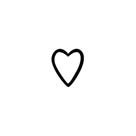 Tiny black heart clipart vector royalty free library Tattify Small Heart Outline Temporary Tattoo - A little love (Set of 2) -  Other Styles Available - Fashionable... vector royalty free library
