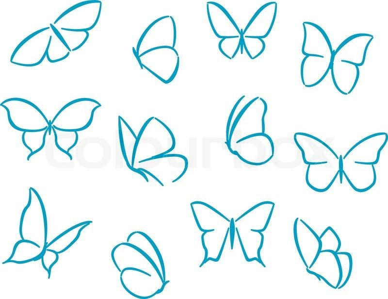 Tiny butterfly clipart clip transparent social+icons+butterflies | Butterflies silhouettes for ... clip transparent