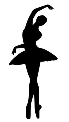 Tiny dancer silouhette clipart image black and white library Ballet Dancer Silhouette Clipart | Free download best Ballet ... image black and white library