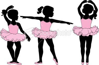 Tiny dancer silouhette clipart banner stock Little girl ballet dancers in silhouette | Baby room ideas ... banner stock