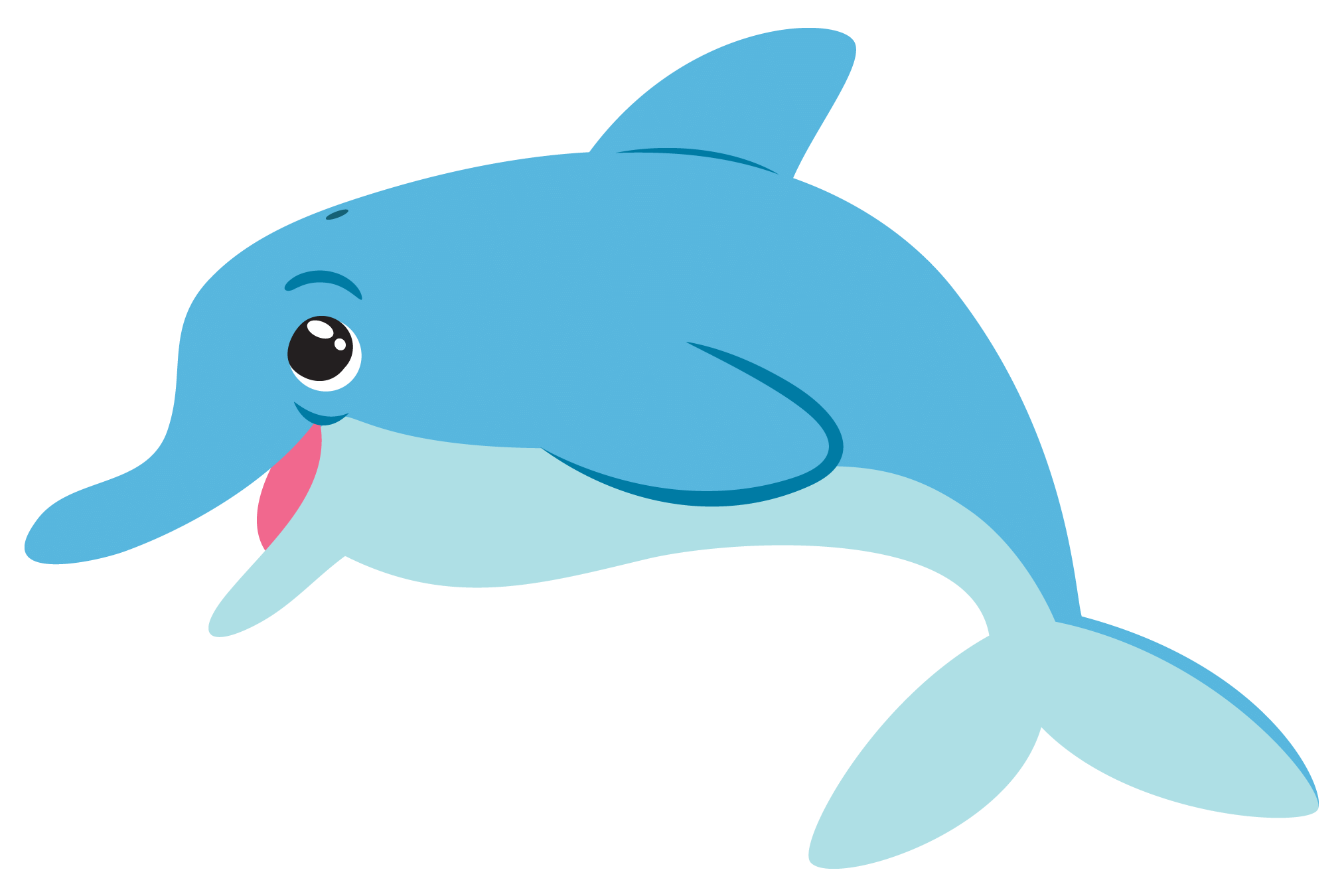 Tiny fish clipart clipart Dolphins clipart bottlenose dolphin ~ Frames ~ Illustrations ~ HD ... clipart