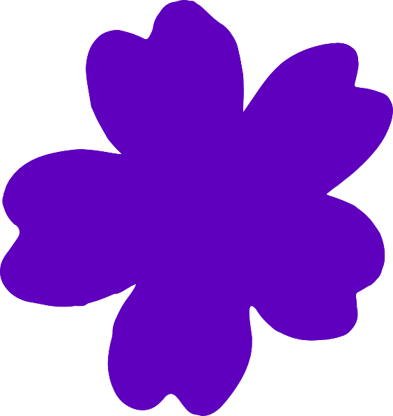 Tiny flower clipart banner black and white download Purple Flower Clip Art at Clker.com - vector clip art online ... banner black and white download