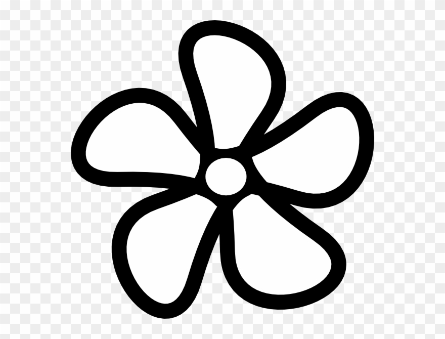 Tiny flower clipart border black and white png black and white stock Flower Clip Art - Outline Flower Clip Art Black And White ... png black and white stock