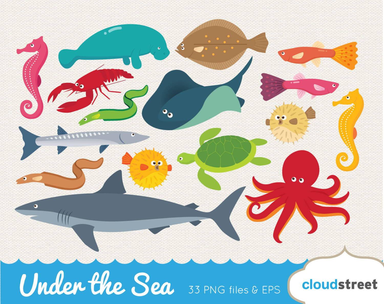 Tiny sea creatures clipart png 16+ Sea Creatures Clipart | ClipartLook png