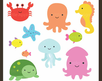 Tiny sea creatures clipart graphic royalty free library Free Sea Animal Art, Download Free Clip Art, Free Clip Art ... graphic royalty free library