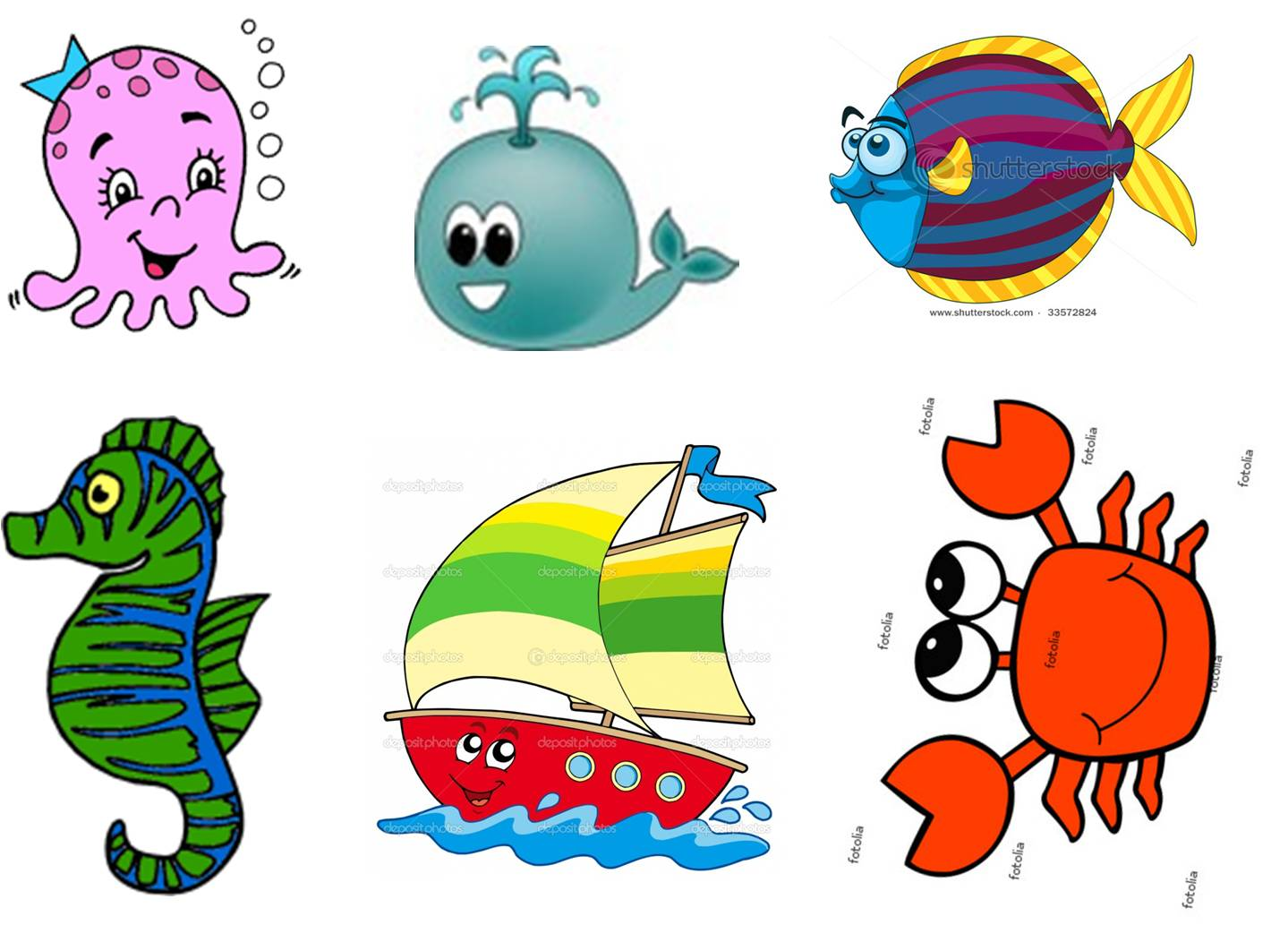 Tiny sea creatures clipart graphic royalty free My Mistyfied: Tiny Quiet Book graphic royalty free