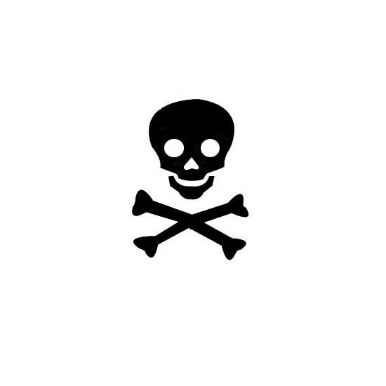 Tiny skull clipart banner freeuse library Design Stamp - Skull & Crossbones 4mm banner freeuse library