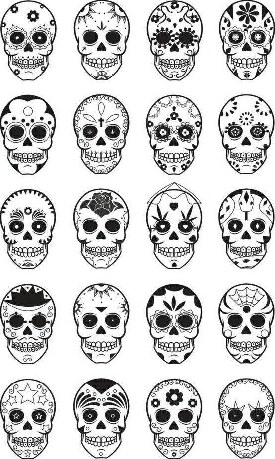 Tiny skull clipart transparent download Sugar Skulls | Tattoos | Small skull tattoo, Sugar skull ... transparent download