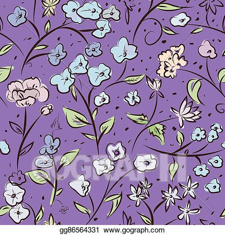 Tiny spring clipart image library library Vector Art - Tiny spring flowers doodle drawing pattern ... image library library