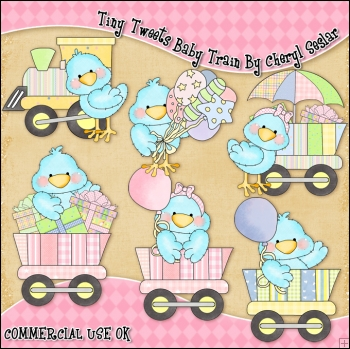 Tiny train clipart clip royalty free Tiny Tweets Baby Train ClipArt Graphic Collection - £0.67 ... clip royalty free