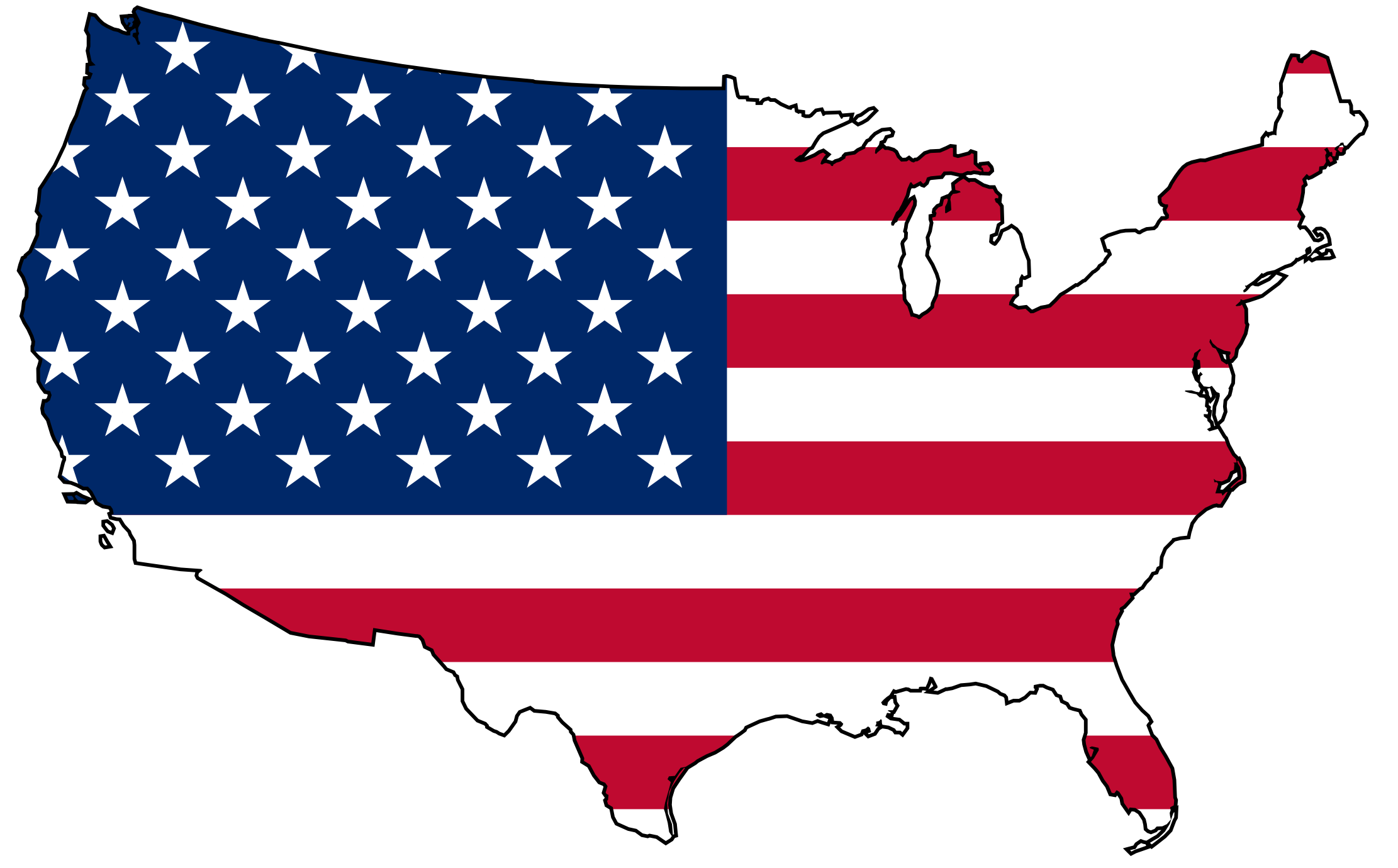 Us map clip art banner black and white stock USA Map Art | Usa Flag Map Flag Flags of the World openclipart.org ... banner black and white stock