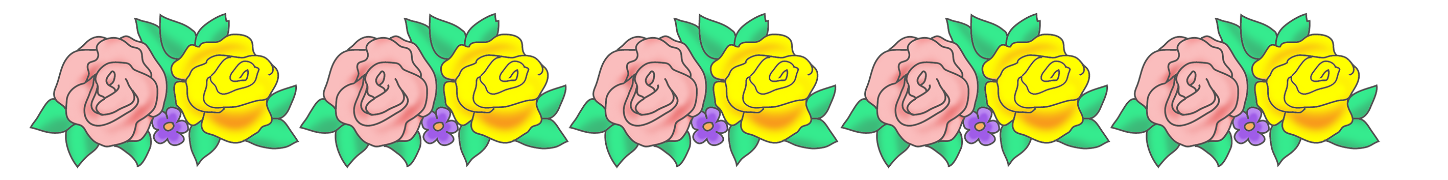 Tiny flower border clipart clipart free Flower borders and frames clipart free
