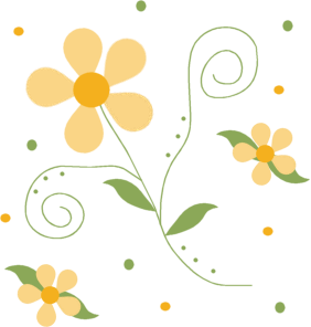 Tiny yellow flower frame clipart png royalty free stock Flower Clip Art - Flower Images png royalty free stock
