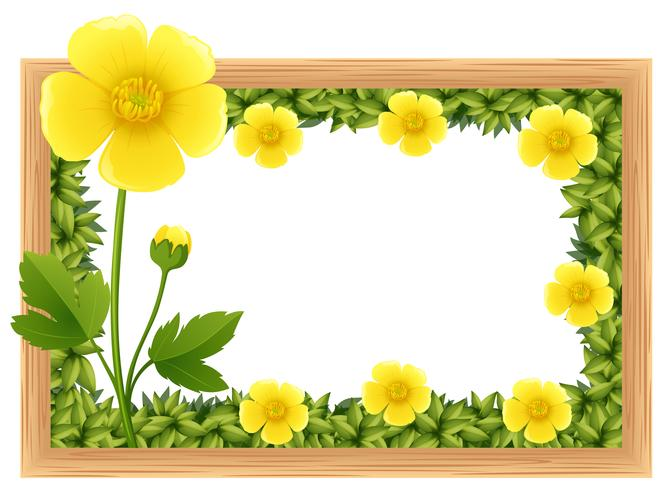 Tiny yellow flower frame clipart svg freeuse library Yellow buttercup flowers as frame design - Download Free ... svg freeuse library