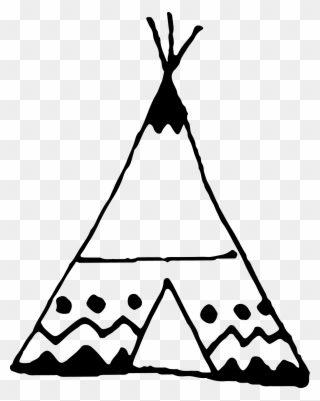 Tipi clipart black and white png royalty free stock Free PNG Teepee Clip Art Download - PinClipart png royalty free stock