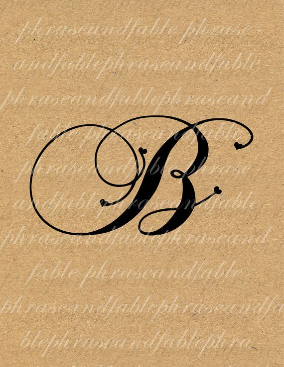 Tipografia clipart clipart freeuse Lettera B Cuore 273 Digital Download Alfabeto iniziale Nome ... clipart freeuse