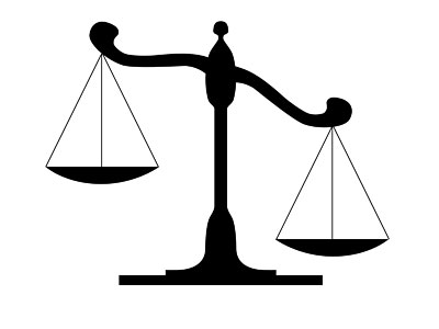 Tipping scale clipart black and white clip royalty free Free Clipart Images Scales Of Justice | Free download best ... clip royalty free