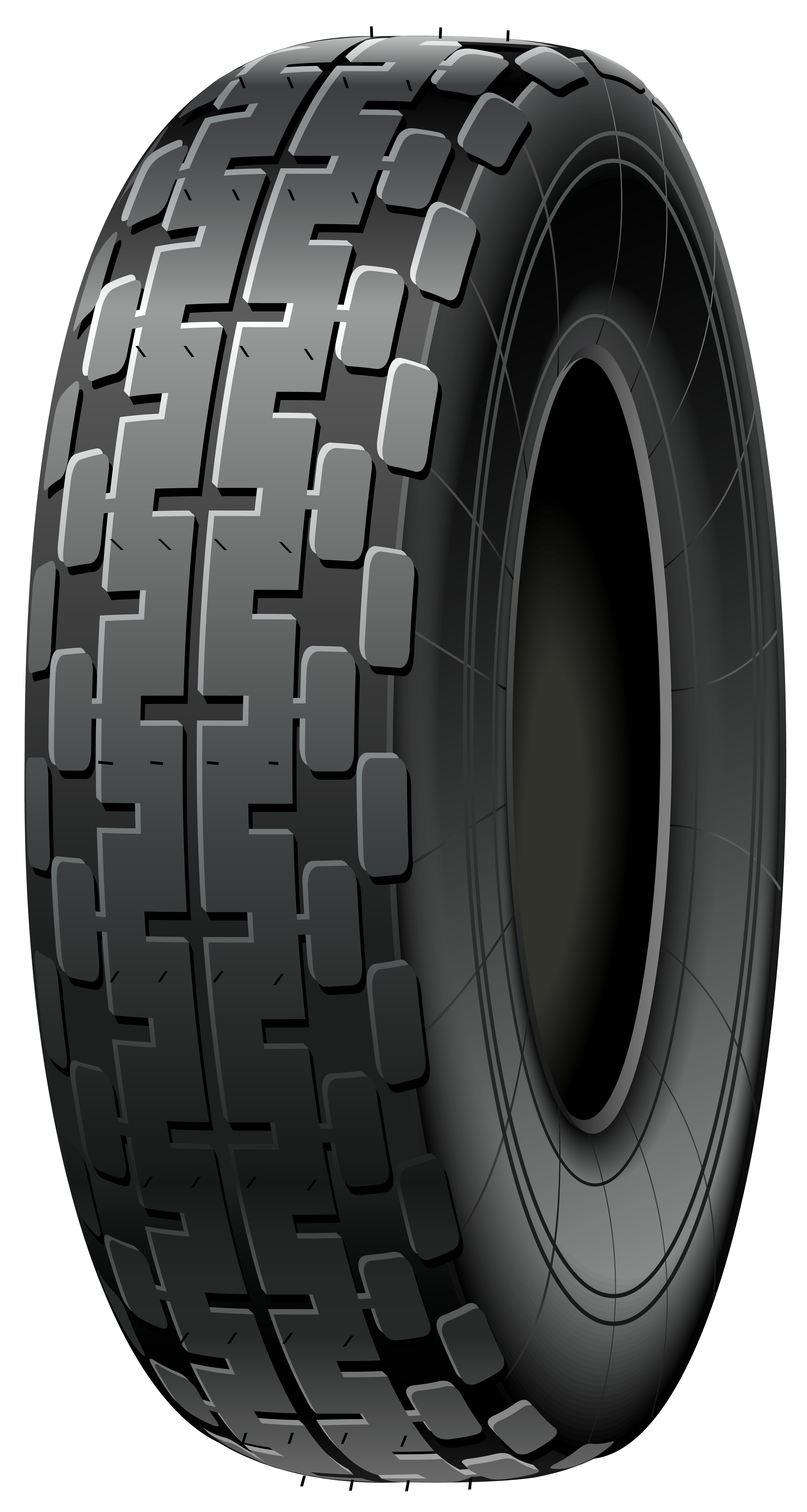 Car with tires clipart black and white jpg royalty free library Black Car Tire PNG Clip Art - Best WEB Clipart jpg royalty free library