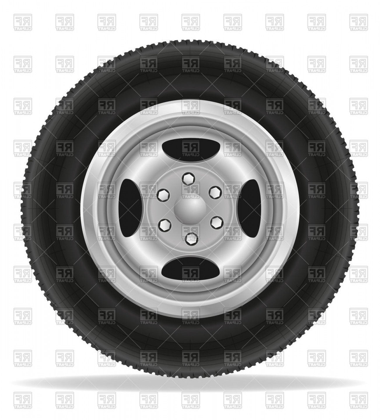 Tire clipart vector banner transparent stock Car Wheel Tyre Isolated On White Background Vector Clipart ... banner transparent stock