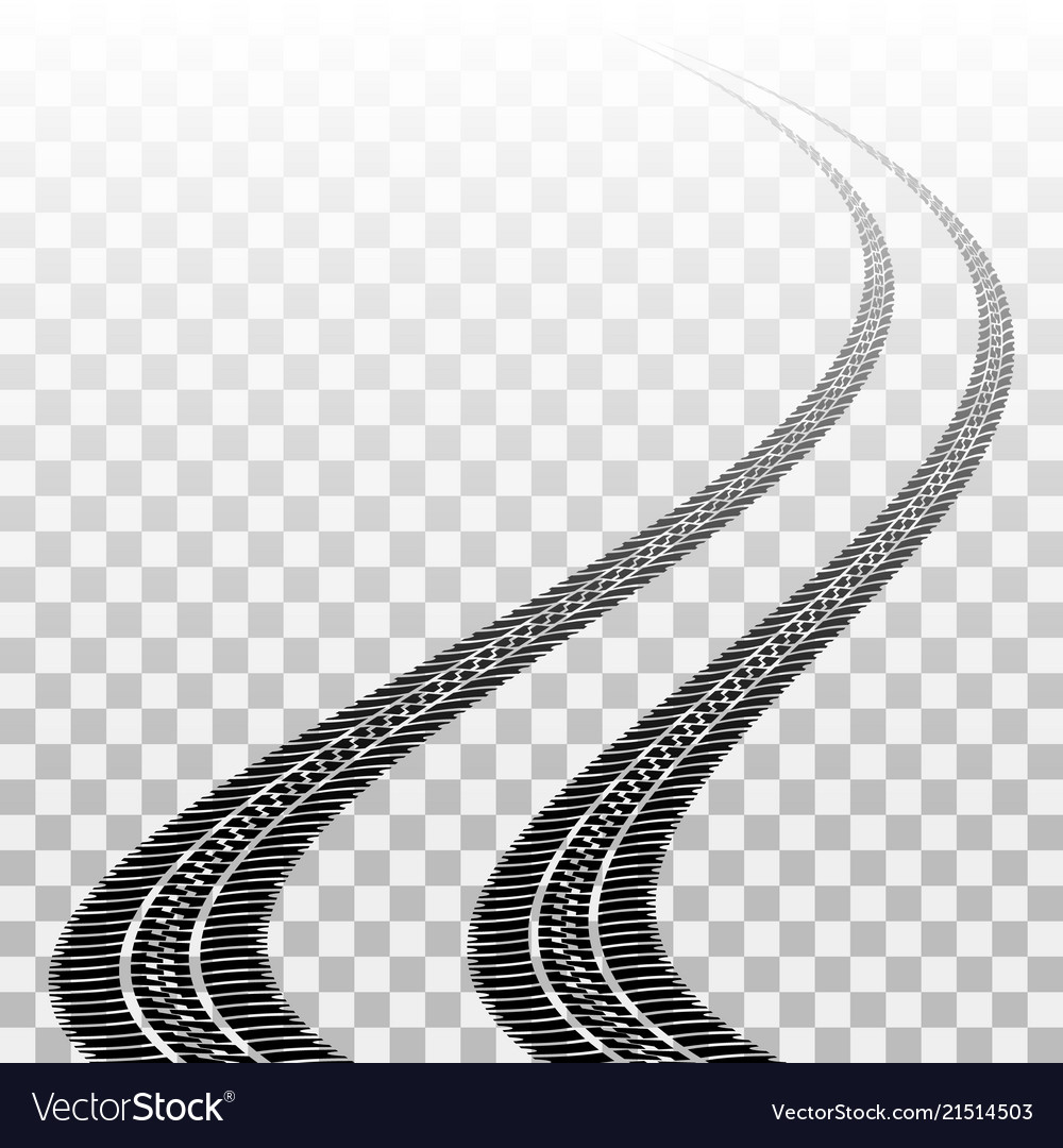 Tire track clipart vector free graphic transparent download Winding tire tracks on transparent graphic transparent download