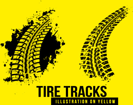 Tire tracks clipart free eps royalty free download Vintage tire tracks art backgrounds vector Free vector in ... royalty free download