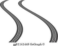 Tire tracks clipart free image transparent stock Tire Tracks Clip Art - Royalty Free - GoGraph image transparent stock