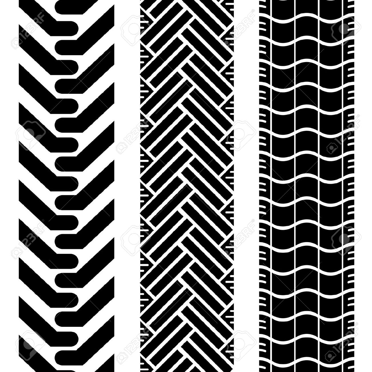 Tire tread patterns clipart clip free download Collection Of Tire Treads In Black And White With Repeat Pattern ... clip free download