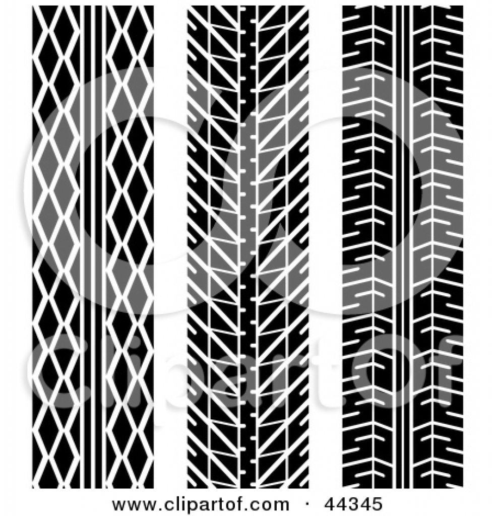 Tire tread patterns clipart jpg black and white stock royalty free rf tire tread pattern clipart illustrations High ... jpg black and white stock