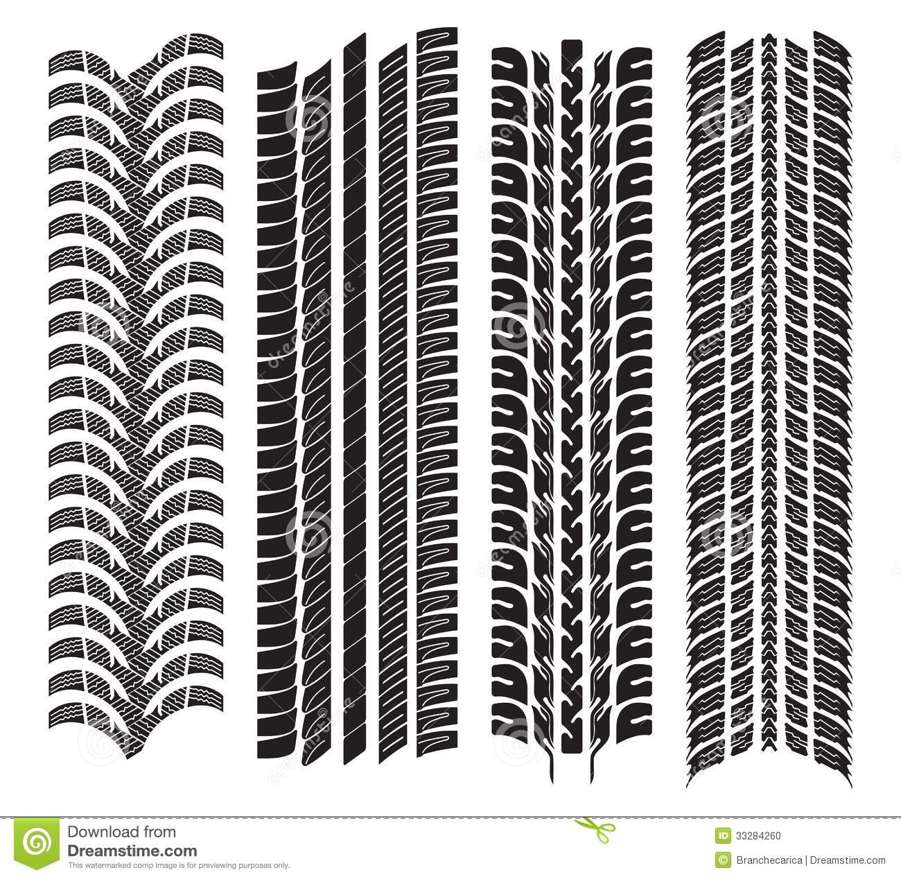 Tire tread patterns clipart graphic freeuse library Various Tyre Treads Stock Photo - Image: 33284260 graphic freeuse library