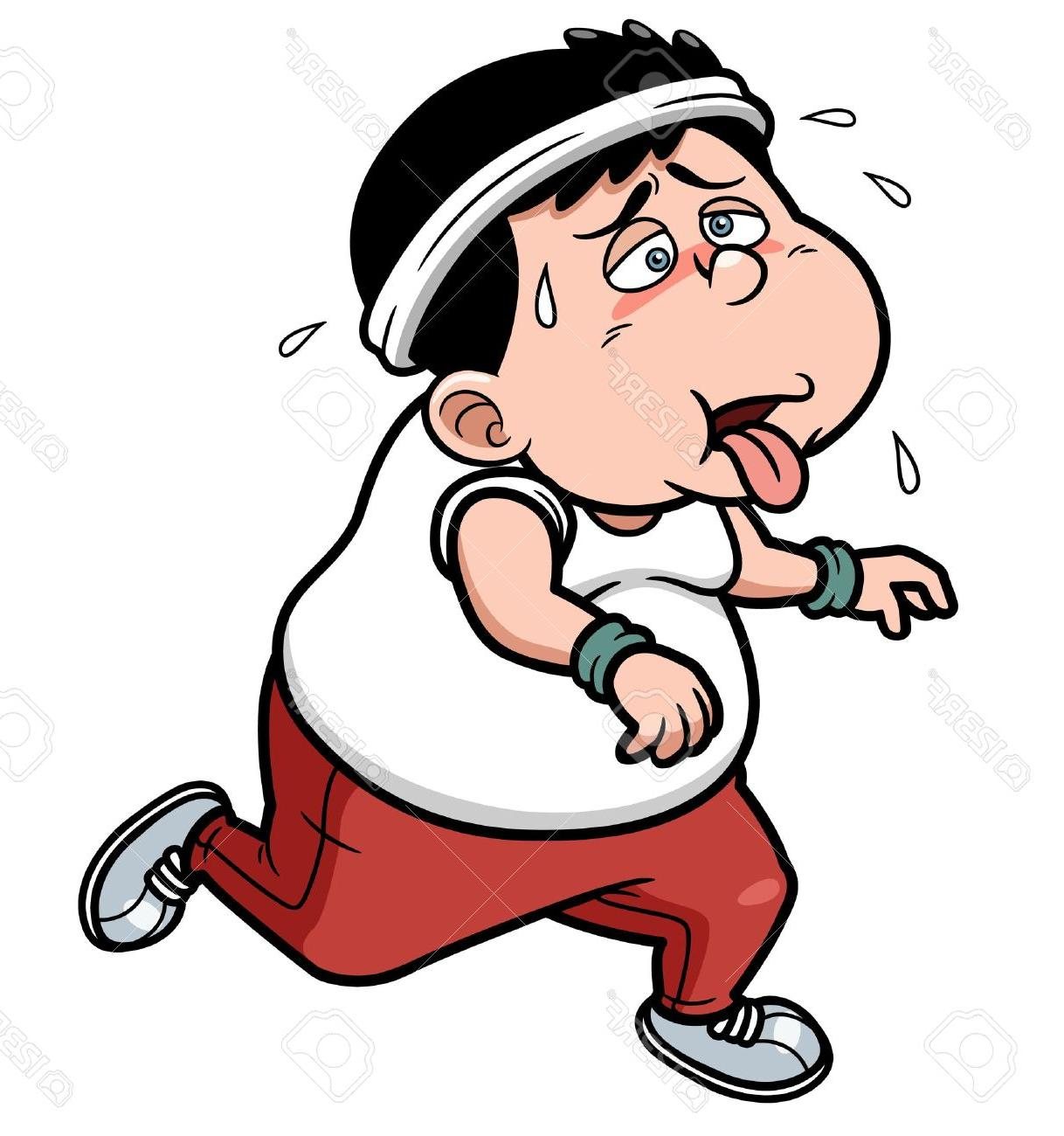 Tired old fatter woman after run clipart clipart freeuse Cartoon Tired Person Group with 89+ items clipart freeuse
