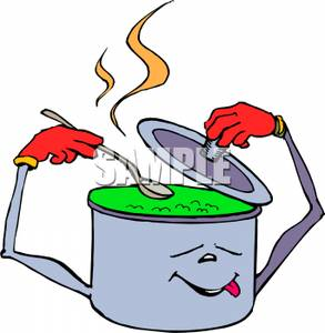 Tirring clipart clip art freeuse A Colorful Cartoon of an Animated Pot Stirring Itself ... clip art freeuse