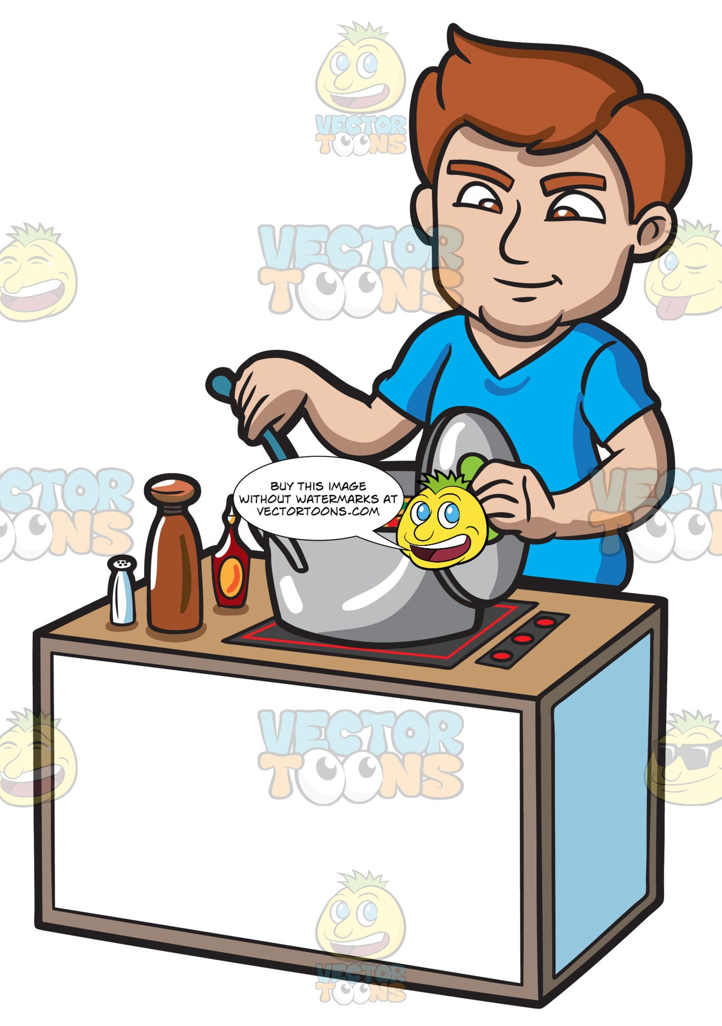 Tirring clipart clip art transparent stock A Man Stirring A Hot Soup clip art transparent stock