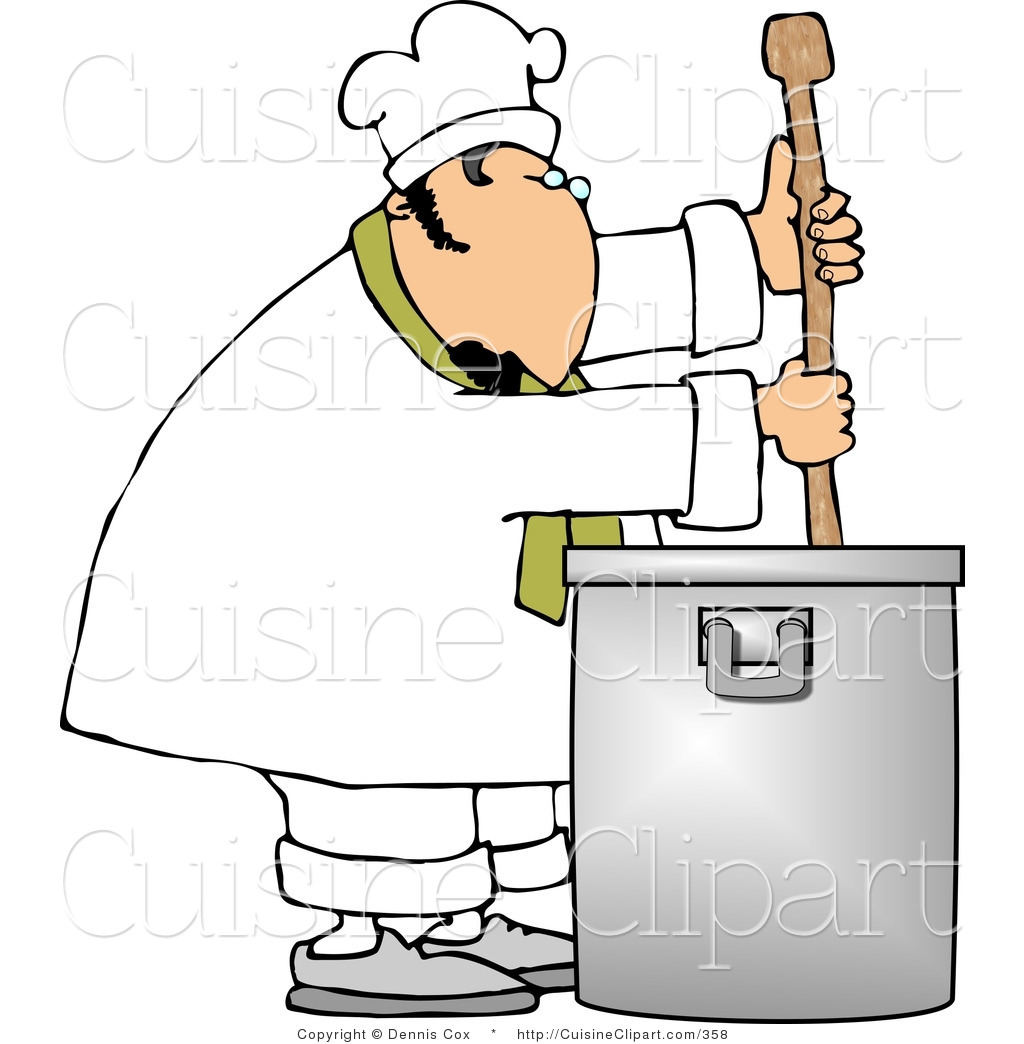 Tirring clipart clipart library download Cuisine Clipart of a Male Chef Stirring a Large Silver Pot ... clipart library download
