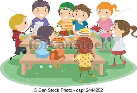 Tisch mit essen clipart picture freeuse stock Kinder am tisch clipart - ClipartFox picture freeuse stock